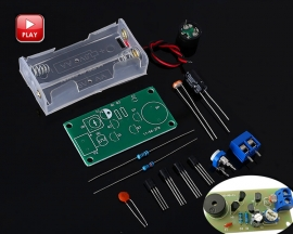 DIY Kit Brightness Detector Dark Alarm Electronic Components Suite