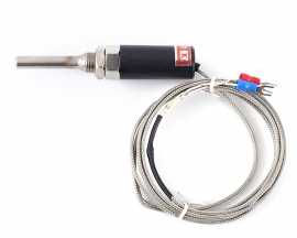 WZP-187 PT100 K Type Stainless Steel Temperature Sensor Probe -200℃-400℃ Thermocouple w/1.5m Cable