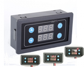 AC 85V-265V Cycle Timer Delay Module Dual Display 110V 220V 10A 2000W 999ms 999h Power-on Delay Timer