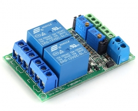 LM393 DC 12V 2Bit Voltage Comparator Relay Control Circuit Module