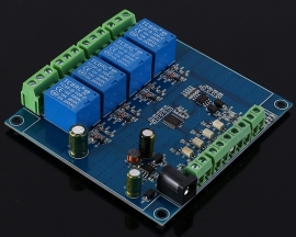 4 Channel Modbus Relay Module 4Bit Modbus-RTU Switch Signal Input Output RS485 TTL Controller