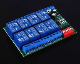 8-Channel RS485 Multifunctional Delay Relay Module DC 12V Modbus RTU Controller