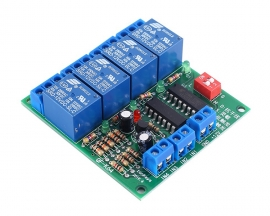 DC 12V 4CH 4-Channel Self-locking Relay Module High/Low Level Trigger QF-K64