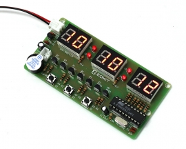DIY 6 Bits C51 Digital Electronic Clock Red LED AT89C2051 Chip DIY Kits Soldering Practice Learning Suite DIY Module
