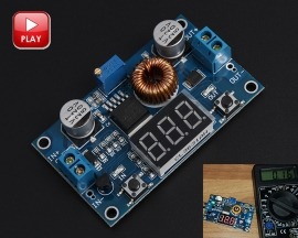 DC to DC Step Down Buck Converter Power Supply Module 4V-38V to 1.25V-36V 5A Adjustable Voltmeter