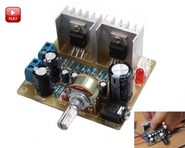 ICStation TDA2030A DIY Kit 2.0 15W+15W Dual Channel Audio Amplifier Board Power Amplifier DIY Module