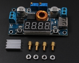 DC-DC 5A LED Drive Lithium Battery Charger Module with Voltmeter Ammeter LED Digit Display Board