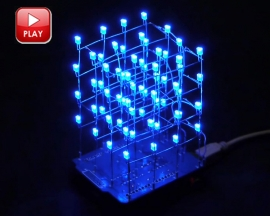 ICStation 4X4X4 Light Cube Kit for Arduino UNO ICSK059A