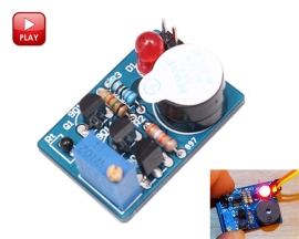 ICStation Electronic Temperature Control DIY Kit Sound Light Alarm Suite DC 3-5V