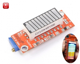 4 Colors Electricity Quantity Display Module Battery Capacity Display Tester Electricity Meter Indicator Module