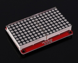 DC 3.3V 5V LED Dot-Matrix Display Module Lattice Screen HT16K33 Driver 16*8 Cascade Compatible 16x8 IIC Interface
