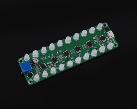 DC 5V 12V RGB LED Sound Control Sensor Audio Spectrum Display Module Volume LED Level Indicator