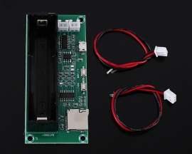 MNI Digital Power Amplifier Board PAM8403 Class D 5W+5W Stereo Voice Player w/ 18650 Battery Socket
