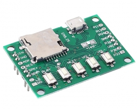DC 5V MP3 Voice Module 4M Flash Voice Playback Module with 3W Amplifier for Broadcast Alarm