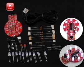 DIY Kit Sound Light Controller LED Delay Light Voice Controlled Melody Light Audio Indicator