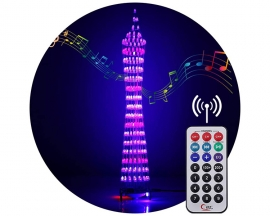 DIY Kit Wireless Bluetooth Colorful RGB LED Display Tower 3W Amplifier Infrared Remote Control Electronic DIY Kits Brain-training Toy Gifts
