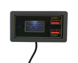 LCD Digital Battery Capacity Indicator Voltmeter Voltage Tester 24W Voltage Monitor IP6505T for QC2.0/QC3.0/FCP/SCP/MTK/APPLE