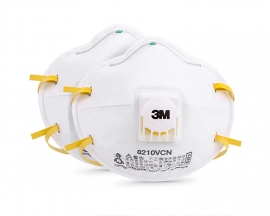 3M 8210VCN Respirator N95 Face Mask Anti Flu Virus Anti Particulate PM2.5 Dust Pollen Allergy Safety Protection Mask with Valve