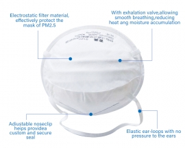 Jimei KN95 Mask Flu Virus Protective Mask Headloop Face Mask