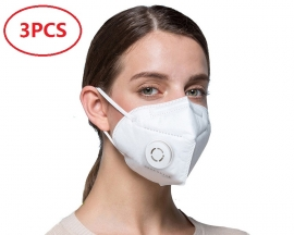 3PCS KN95 Protective Foldable Mask CE Certification Face Mask Anti Virus Flu Dust PM2.5 with Valve