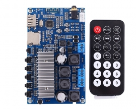 TPA3116 50W+50W Bluetooth 5.0 Stereo Amplifier Module Dual Channel Audio Receiver MP3 Decoder for FM/U-disk/TF Card Remote Control