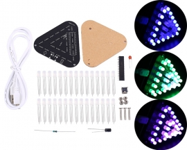 DIY Kit 5mm RGB LED Flashing Lamp Ring Light Module Breathing Light Gradient Color Decorative Lights