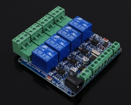 RS485 Modbus-RTU 12V 4Bit Relay Module 4-Channel Switch Controller for Arduino