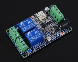 DC 12V 2.4G IoT Wireless Transceiver 2Bit WIFI Intelligent Controller Switch 10A Relay Module 2-Channel APP Control