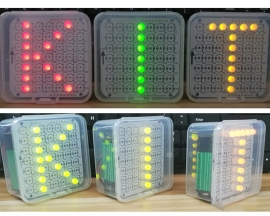 DIY Kit Simple Breathing Lamp Red/Green/Yellow Customize LED Dot Matrix Display Module