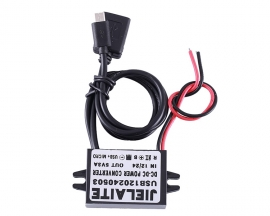 DC-DC 12V 24V to 5V 3A Female/Micro USB Step Down Power Supply Module IP68 Waterproof Adjustable Buck Conveter Voltage Conveter