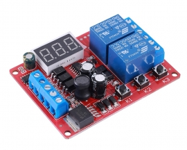 DC 12V 24V 2Bit Delay Relay Module 2-Channel High Level Trigger Switch Controller Motor Driver Module