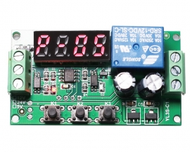 DC 12V Pulse Counter High Level Trigger Relay Module 0-10KHz Frequency Counter for Motor Speed Hall Sensor