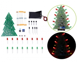 DIY Kit Red Green Flash LED Circuit DC 9V Christmas Trees LED Kit Electronic Welding Training Learning Kit