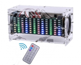DIY Bluetooth Music Spectrum Speaker Kit, DIY Home Stereo Speaker, Sound Amplifier Kits with Remote Control
