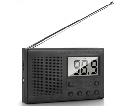 DIY Kit FM Radio Module, DC 3V Adjustable Frequency FM Digital Radio, LCD Display Wireless Receiver with 5W 8ohm Speaker