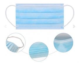 50PCS/Pack Disposable Medical Masks Particular Fliter Efficiency Over 95% Face Mask with CE FDA ISO Certification