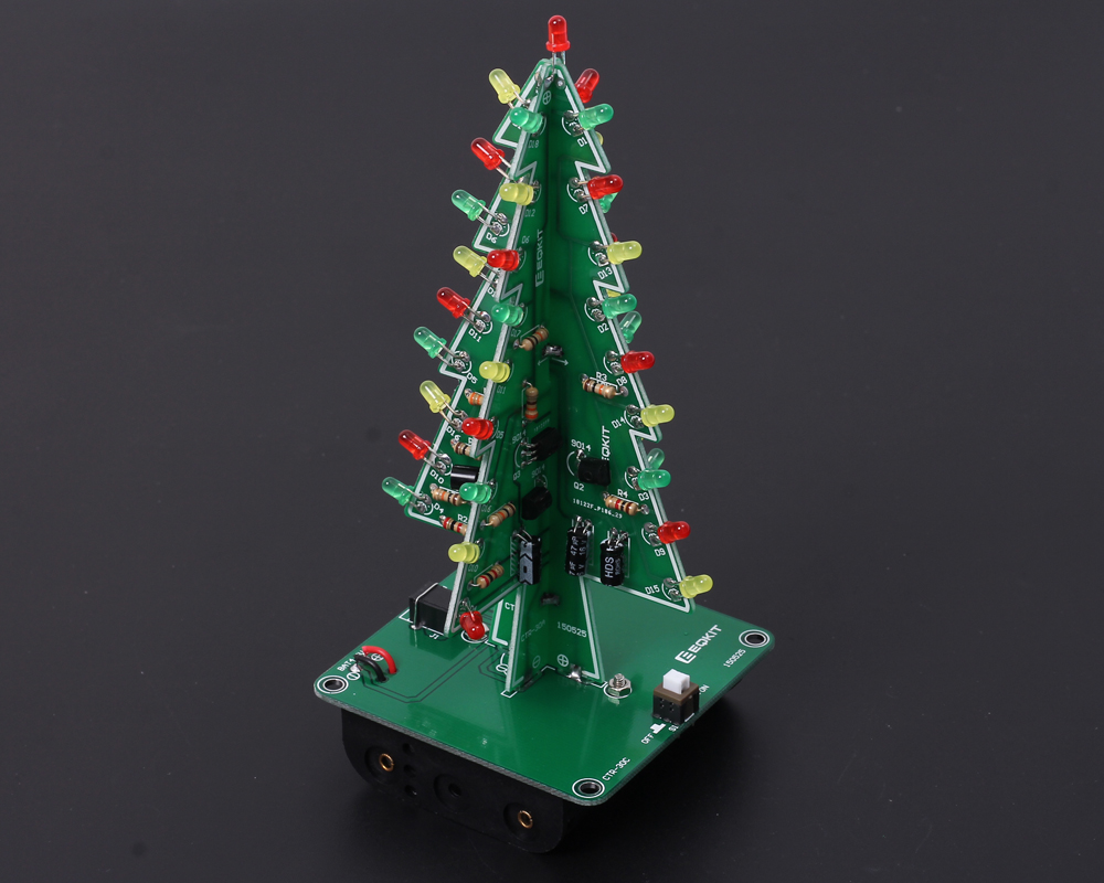 Diy Flashing Led Christmas Tree Circuit Kit7212 From Icstation On How Lights Switch And Work Enter Image Description Here